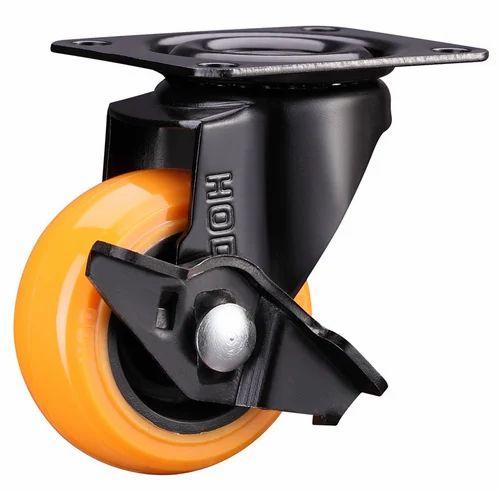 Orange,Yellow Light Duty Caster Wheel, for Trolley