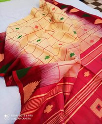 Handloom Check Temple Jamdani Sarees