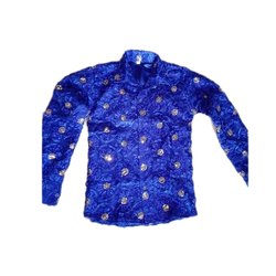 Boys Blue Ribbon Full Shirt, Dance Costumes, Size: Small