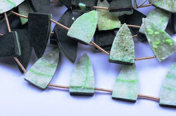 Sparkling Druzy 6 Beads 12x24mm Light Green Flat Druzy Fancy Pyramid Beads