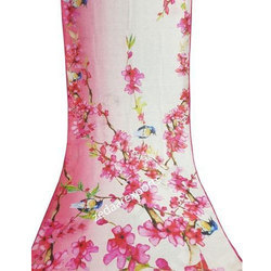 Linen Printed Bhagalpuri Saree, Length: 6.3 m