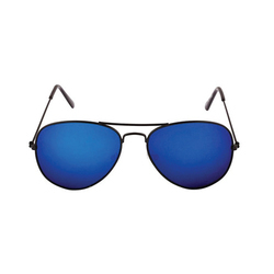 Black Blue Mercury Aviator Sun Goggles, Size: 65