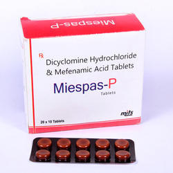 Dicylomine Hydrochloride  And Mefenamic Acid Tablets