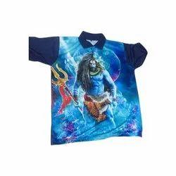 Lycra Cotton Half Sleeve Mens Polo Neck T Shirt, Size: S-XXL