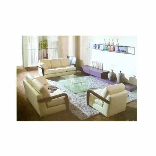 Wood Greentech White Sofa Set