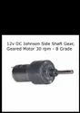 12v DC Johnson Side Shaft Gear, Geared Motor 30 rpm - B Grade