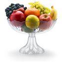 Pedestal Plastic Fruit Bowl