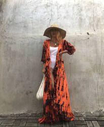 Ladies kimono Dress / Tie dye Scarves