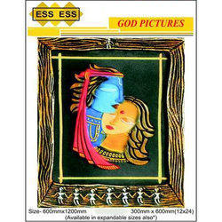 Ess Ess Polished High Grade 3d God Pictures Wall Tile, Size: 600mmx1200mm And 300mmx600mm