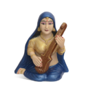 Village Lady Holding The Veena