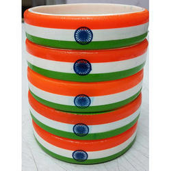 Silicone India Flag Tri Color Wristband