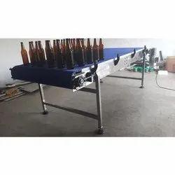 Modular Belt Conveyor For Glass Bottles Conveying