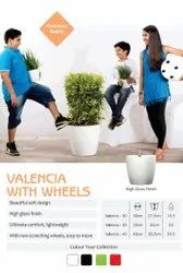 Valencia with Wheels Planters Pot