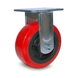Red Rubber Trolley Wheels