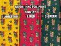 Rayon 14kg Foil Print Fabric
