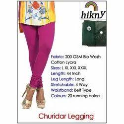 Hikny Lycra Cotton Churidar Leggings Stretchable