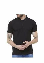 Redmax Plain Mens Cotton Polo Neck T-Shirt