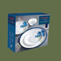Opalware White Base Dinner Set 6/10pcs