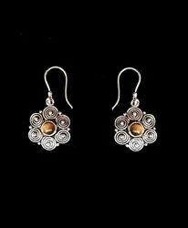 Fine Decorative Brass Diamond Earring