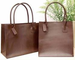 Brown And Brown Leather PU Tote Bag, Pure Leather: Yes And Yes