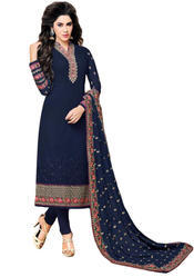 a05964308d46 Heavy Embroidery Semi-Stitched Georgette Dress Material