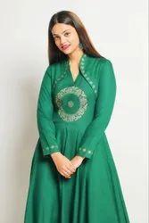 1 Piece Indio-Western Block print Kalidar Gown