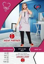 Half Printed Night Suits, Size: L XL 2XL 3XL 4XL 5XL, 18-100