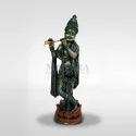 Mantra Bronze Standing Krishna With Lotus Base