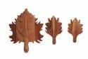 Leaf Design Wood Cutting Board Set Of Three