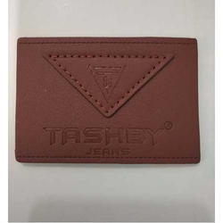 Brown Leather Embossed Label