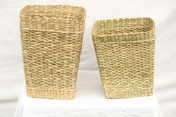 Sea Grass Square Bucket (11 x 15 inch) & (11 x 12 inch)