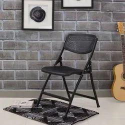 SAM Black Mesh Design Folding Chair, for Enyware