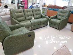 Wooden Modern 5 Seater Recliner Decorative Sofa, Living Room