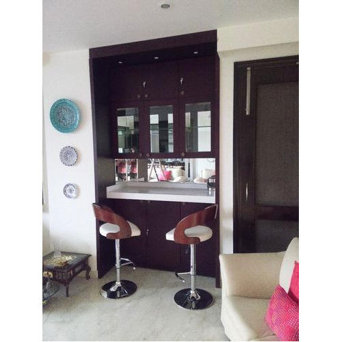 Bar For Living Room: Wood Modern Bar Wall Unit, Rs 100000 /unit, The Interior