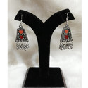 Oxidised German Silver Short Earrings