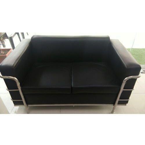 Two Seater Black Sofa Set