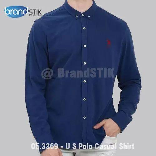 Full Regular U S Polo Assn Men Solid Casual Shirt, Brandstik ...