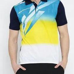 Green Dri Fit Collar Sports T-Shirt
