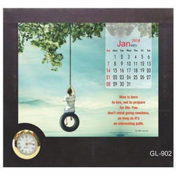 Desk Calender with Clock
