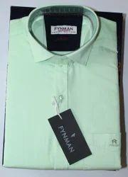 Men's Pure Cotton Plain Shirt, Size: 38.0 - 42.0