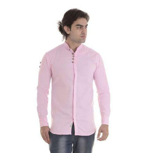 d327dfd4e Pink Cotton/Linen Mens Chinese Collar Shirt, Rs 300 /piece | ID ...