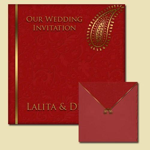Floral Wedding Card Manufacturer From Hosur: Red Floral Wedding Invitation Card, Rs 40 /piece, Deepam