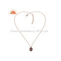 Tourmaline Diamond Rose Gold Plated Silver Pendant Jewelry Manufacturer