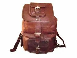 Camera Organizer Leather Backpack