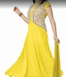 Ladies Designer Yellow Suit