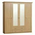 Brown Laminated Board Wooden Almirah
