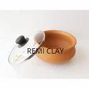 Clay Biryani Handi With Glass Lid