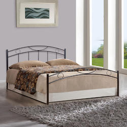 Black Wrought Iron Double Bed, Dimension: 208.1 x 104.9 x 159.9 cm