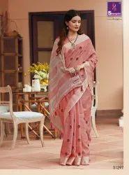 Wedding Designer Linen Saree