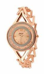 National Wedding Wear Rose gold belt female watch